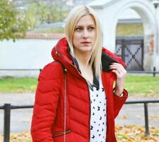 ZARA Red Quilted Anorak Puffer Coat Padded Jacket Size Extra Small XS