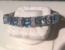 Judith Ripka Blue Topaz Tennis Bracelet