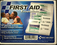 17 piece Travel First Aid Kit FAO106F Bandaid Antibiotic Antiseptic Bandages