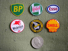 6 PETROL/OIL COMPANY PIN BADGES,BP,CASTROL,ESSO,MOBIL,NATIONAL BENZOLE & SHELL