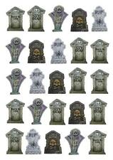 Halloween Gravestone STAND UP Cupcake Fairy Topper Edible Rice PaperDecorations