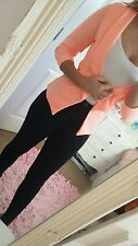 Bnwt sexy smart size 10 coral orange classy jacket top outwear stylish party