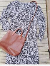 EUc $158 Madewell Alexa Chung Party Leopard Shift dress Mini Jcrew Longsleeve S