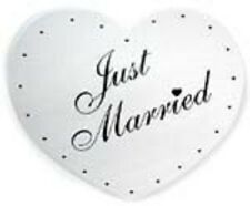 """Just married single heart cardboard sign car decoration can be decorated 26"""" dia"""