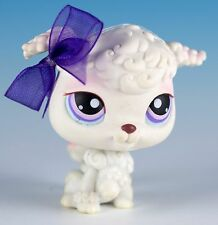 Littlest Pet Shop Poodle #101 White With Purple and Pink Eyes
