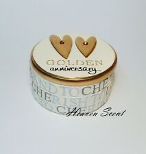 50th Golden Gold Wedding Anniversary Trinket Box Great Gift Present Ideas