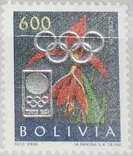 BOLIVIA BOLIVIEN 1964 674 unlisted silver ovp Olympics Tokyo Lillie Flower MNH