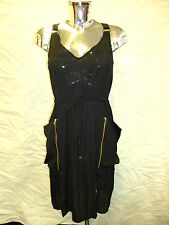 Womens Ladies New Dungaree Style Dress(Sizes 10 - 16)