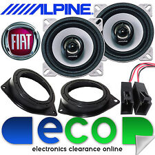 "FIAT Grande Punto/EVO Alpine 360 Watts 10cm 4"" Rear Side Car Speakers & Brackets"