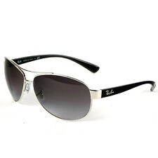 Ray-Ban Aviator Silver & Black Sunglasses with Grey Lenses, RB3386 003/8G