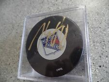 MARC STAAL New York Rangers auto hockey puck