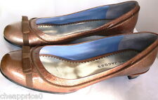 Marc Jacobs Bow-Accented Metallic Pumps Sz 38 Made In Italy