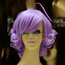 Anime MAGICAL ANGEL CREAMY MAMI Short Synthetic Wavy Color Purple Cosplay Wig