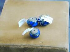 3 Hand Blown Blue Art Glass Alethia Donothan Beads New With Tags