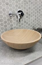 New Solid Stone MARBLE Round Bowl Counter Top Basin Vanity MODERN Sandstone Sink