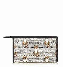 HOBBS N.W.3 Roly Cat print makeup bag cosmetic case kitty quirky indie NW3 BNWT