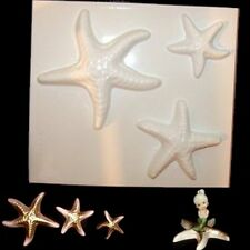 Plastic Mold - 3 STARFISH Wall Plaque or Counter - retro & vintage mermaid bath
