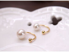 Fashion Silver Gold Pearl  Wrap Ear Cuff Earring Cartilage Clip On No Piercing