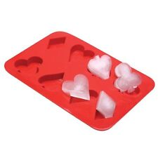 Playing Card Suits Silicone Ice Cube Tray - Ace Club Diamond & Spades Ice Cube