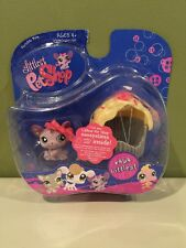 Littlest Pet Shop #464 purple mouse with cupcake new in pack