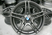 "4 x Genuine Original BMW 1 Series 313 M Sport 18"" alloy wheels - E81 E82 E87 E88"