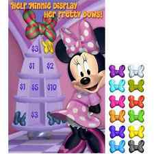 Minnie Mouse Dream Disney Kids Birthday Party Favor Activity Pin the Bow Game