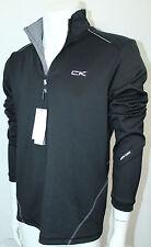 Calvin Klein Men's Quarter Zip Stretch Interlock Sweatshirt NWT Black Sz XXL