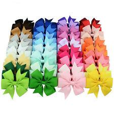 40 Pcs Ribbon Bows Hairpins Kids Child Hair Accessories Princess Dress Headwear