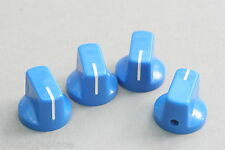 Knobs Azul 19x15 mm. Fit 6.35 Potes Effect Pedal Poti Knöpfe Boutons Blue