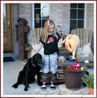 BonEful RTS NEW Twin Boutique 4 5 GIRL Thanksgiving Turkey Holiday Top Pants Set