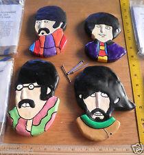"The Beatles 1990s Yellow Submarine busts Wall Hangings 6"" set of 4 John Lennon"