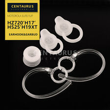 3 Earbud Gel eartip +2 earhook loop For Motorola Elite Flip HZ720 H17 H525 H19xt