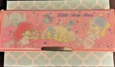 1988 Little Twin Stars Pencil Box Case Magnetic Lid Vintage Sanrio Hello Kitty