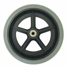 "X 2 ( PAIR ) 200mm 8"" GREY RUBBER SMALL NON MARKING WHEELCHAIR WHEEL REPLACEMENT"