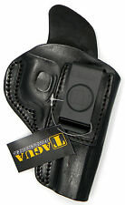BLACK LEATHER INSIDE PANTS IWB CCW HOLSTER w/ COMFORT TAB - RUGER SP101 REVOLVER