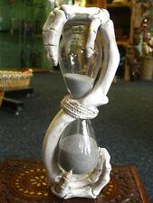 SKELETON HOURGLASS Hands of Time SAND EGG TIMER Hour Glass GOTHIC Horror PAGAN