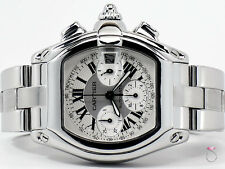 CARTIER ROADSTER XL CHRONOGRAPH STAINLESS STEEL REF. 2618 AUTOMATIC MEN'S WATCH