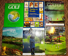 Golf Book Collection - Lot of 6 Large Format Coffee Table Photo Books