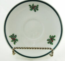 Johnson Brothers Victorian Christmas Saucer Made in Staffordshire England Holly