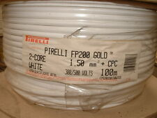Pirelli FP200 Gold Cable 2 core 1.5mm + cpc. 100 Metre Drum.*OLD PHASE COLOURS*