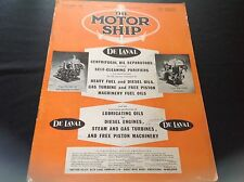 VINTAGE 1957 THE MOTOR SHIP DE LAVAL STEAM GAS TURBINES FREE PISTON