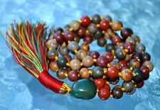 Red Picasso Jasper Knotted Mala Beads - Necklace Renew lost Friendship, Stabilit