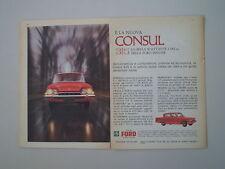 advertising Pubblicità 1961 FORD CONSUL 315