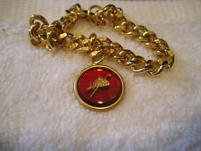 Horse Racing Vintage glass intaglio bracelet featuring Jockey's cap and whip