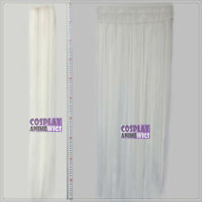 White Hair Weft Extention (3 pieces) - 100cm High Temp - Cosplay 8_101
