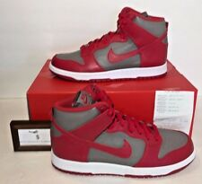NIKE MENS SIZE 13 NIKE LAB DUNK RETRO QS SHOES GREY UNIVERSITY RED NEW NWB