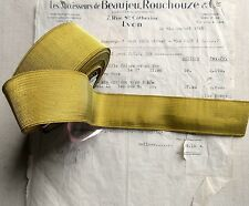 """SPECIAL PRICE Antique/Vintage French Gold Wire Metallic Trim 1 9/16"""""""" Military"""