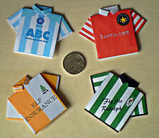 4 x Mini Origami Football Shirt Toppers Novelty Christmas Football Team Shirts