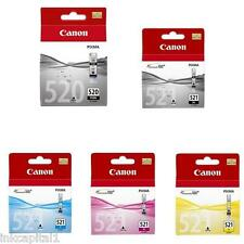 5 x Canon Original OEM Pixma (CLI521 & PG520) Ink Cartridges For MP620, MP 620