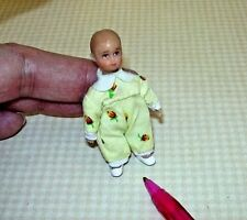 "Miniature ""Merry Meeting"" Brand DOLLHOUSE Baby, Sweet Face and Clothes: 1/12"